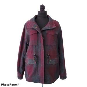 Levis Plaid Wool Sherpa Fleece Lined Jacket Coat M